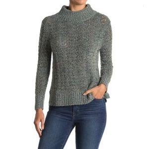 Wit & Wisdom Pointelle Knit Mock Neck Sweater
